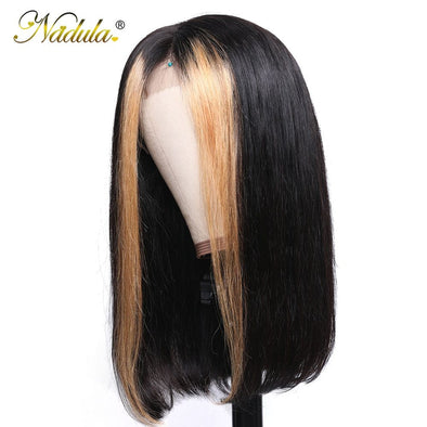 Lace Front Black Wig black and blonde split wig full cap wigs Lace hair
