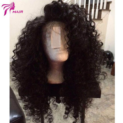 Lace Front Black Wig finger wave wig Lace hair large lace closure