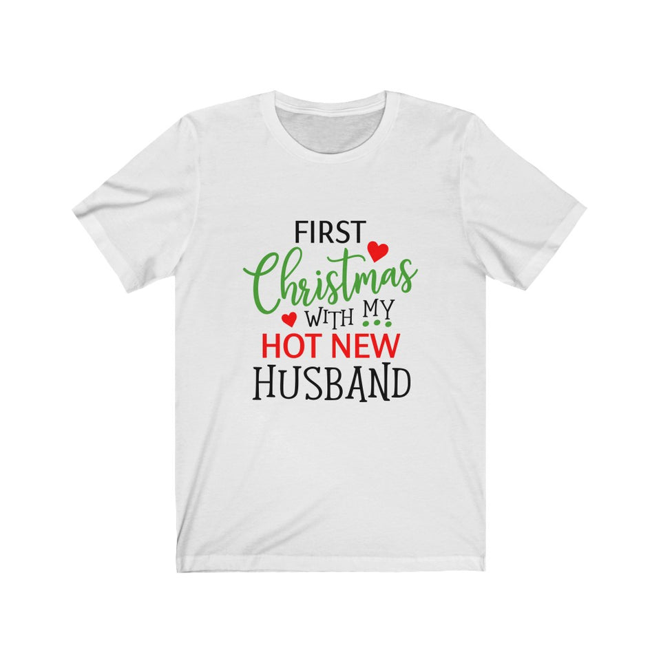 1st Christmas Husband Short Sleeve Tee