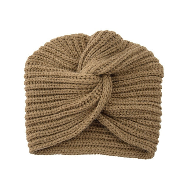 Turban Cashmere Wool Hat