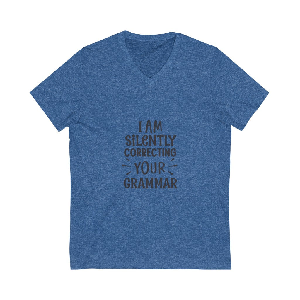 Your Grammer Jersey Short Sleeve V-Neck Tee