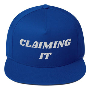 CLAIMING IT Flat Bill Cap