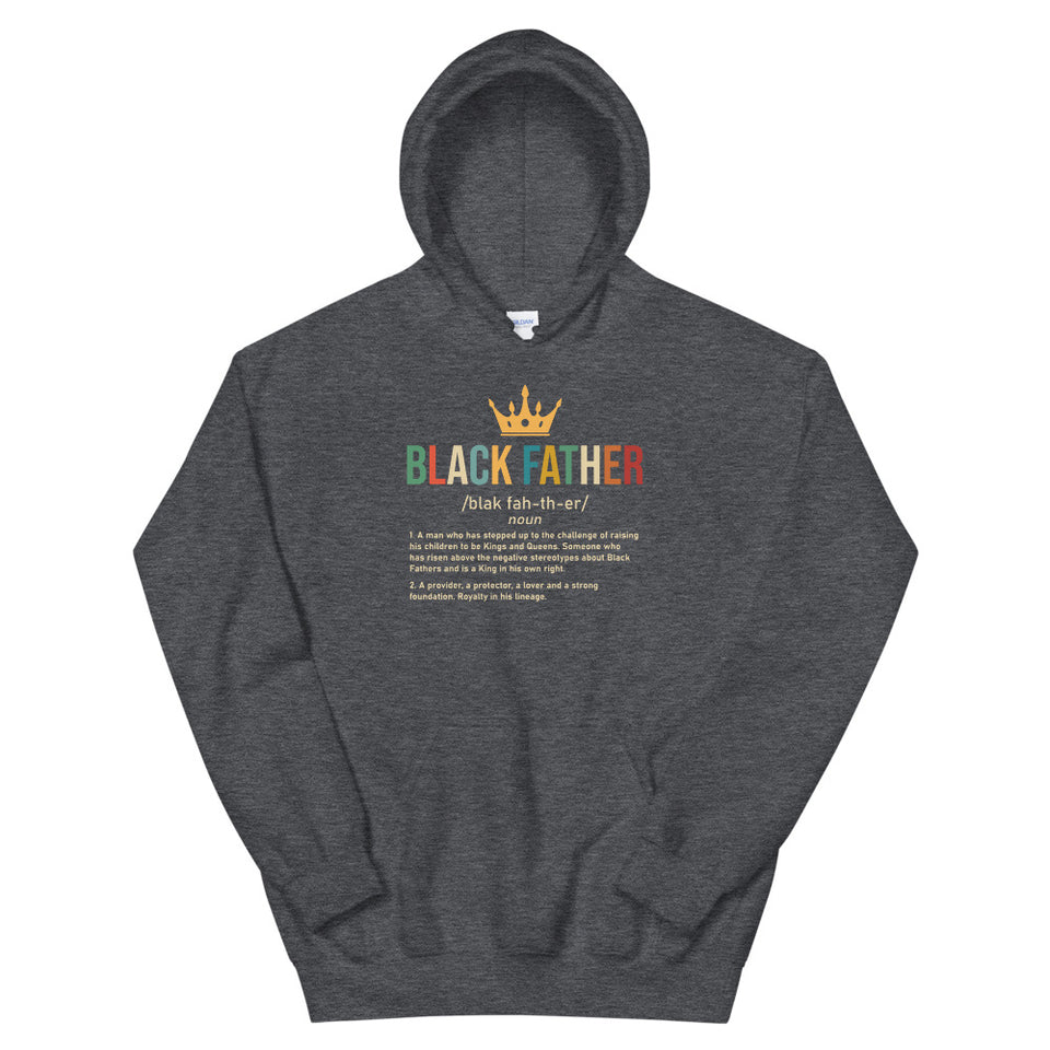 Men's Black Father Hoodie