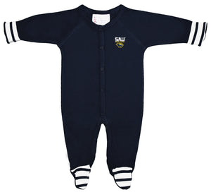Infant Striped Footed Sleeper, Navy