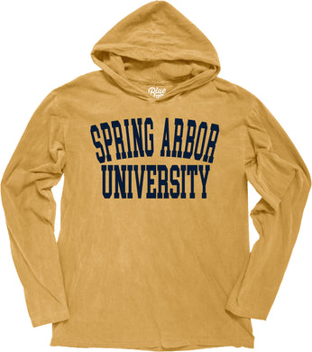 Blue 84 Men's Dyed Long Sleeve Hood, Mustard