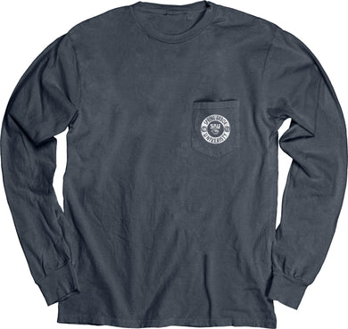 Blue 84 Dyed Ringspun Long Sleeve W/Pocket, Indigo
