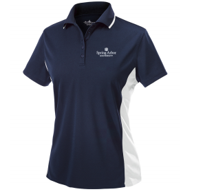 Charles River Women's Color Block Polo, Navy/White