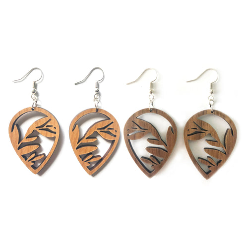 Branches Cutout Wood Earrings