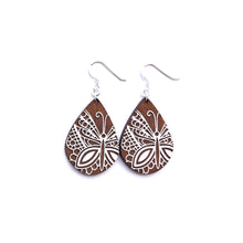 Load image into Gallery viewer, NILMDTS Butterfly Wood Earrings