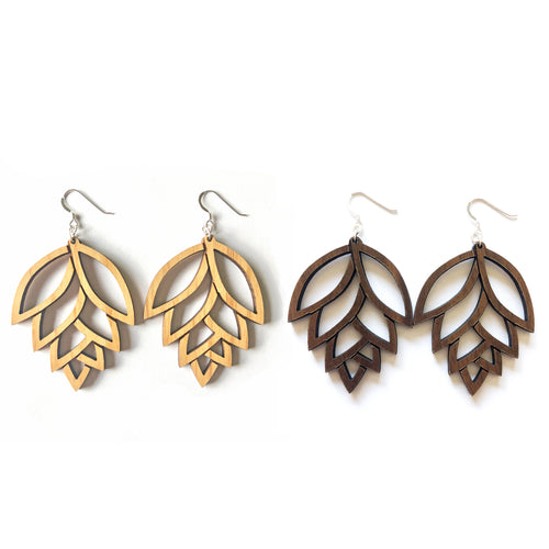 Pinecone Wood Earrings