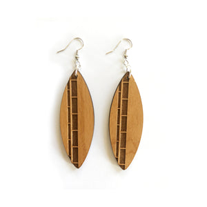 Surfboard Wood Earrings