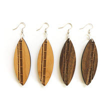 Load image into Gallery viewer, Surfboard Wood Earrings