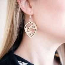 Load image into Gallery viewer, Branches Cutout Wood Earrings