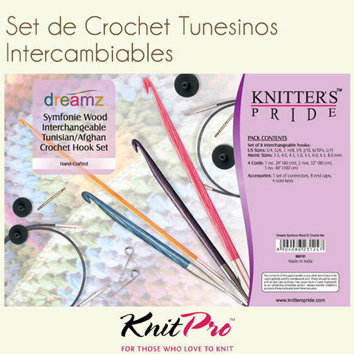 Set de Crochet Tunecino Intercambiable Dreamz - Modista