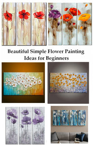Beautiful Easy Flower Painting Ideas for Beginners, Acrylic Flower Painting, Simple Flower Paintings
