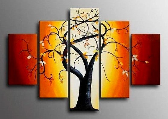 Tree of Life Painting, Bedroom Canvas Paintings, Bedroom Wall Art Paintings, Large Paintings for Bedroom