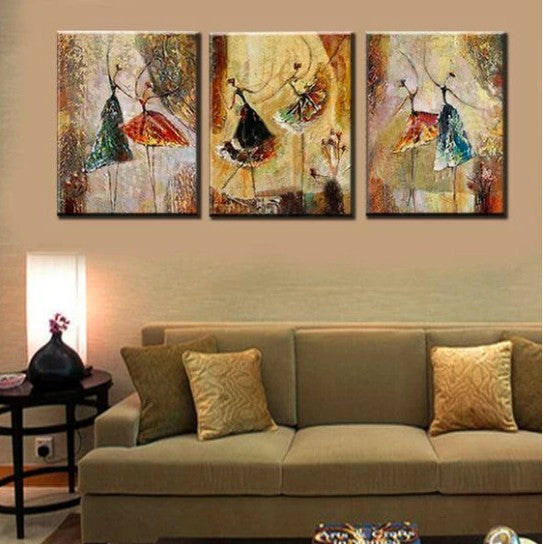 Art on Canvas, Ballet Paintings, Buy Paintings Online, Acrylic Wall Art, Texture Paintings