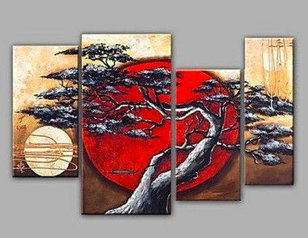 Tree Paintings, Bedroom Canvas Paintings, Bedroom Wall Art Paintings, Large Paintings for Bedroom