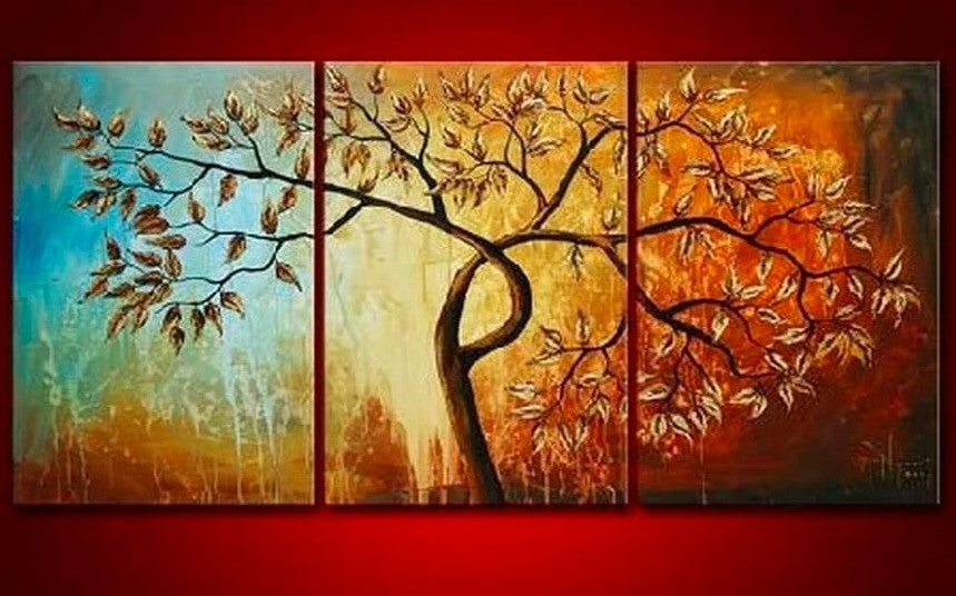 Tree Paintings, Canvas Tree Painting, Acrylic Tree Painting, Wall Art Paintings, Abstract Artwork, Bedroom Wall Art