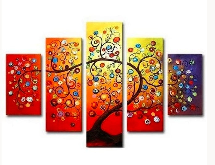 Canvas Tree Painting, Tree Paintings, Acrylic Tree Painting, Wall Art Paintings, Abstract Artwork, Living Room Wall Art, Colorful Tree Paintings