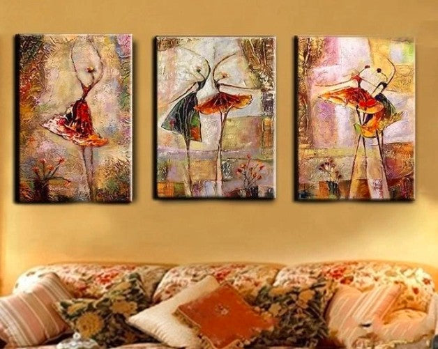 Bedroom Canvas Paintings, Bedroom Wall Art Paintings, Large Paintings, Heavy Texture Artwork