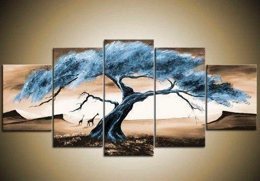 Tree Paintings, Canvas Tree Painting, Acrylic Tree Painting, Wall Art Paintings, Abstract Artwork, Living Room Wall Art