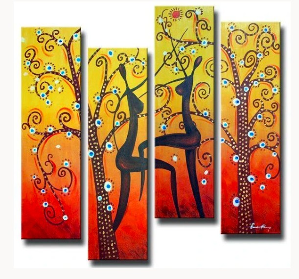 African Woman Paintings, African Art, Abstract Acrylic Paintings, Hand Painted Wall Art