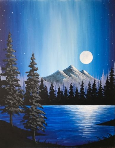 Beautiful Easy Landscape Painting Ideas for Beginners, Sunrise Painting Ideas, Easy Painting Ideas for Kids, Mountain Landscape Painting Ideas, Easy Painting on Canvas