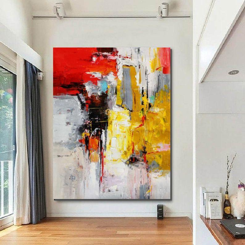 Modern Wall Art Painting, Original Canvas Painting for Living Room, Huge Contemporary Abstract Artwork