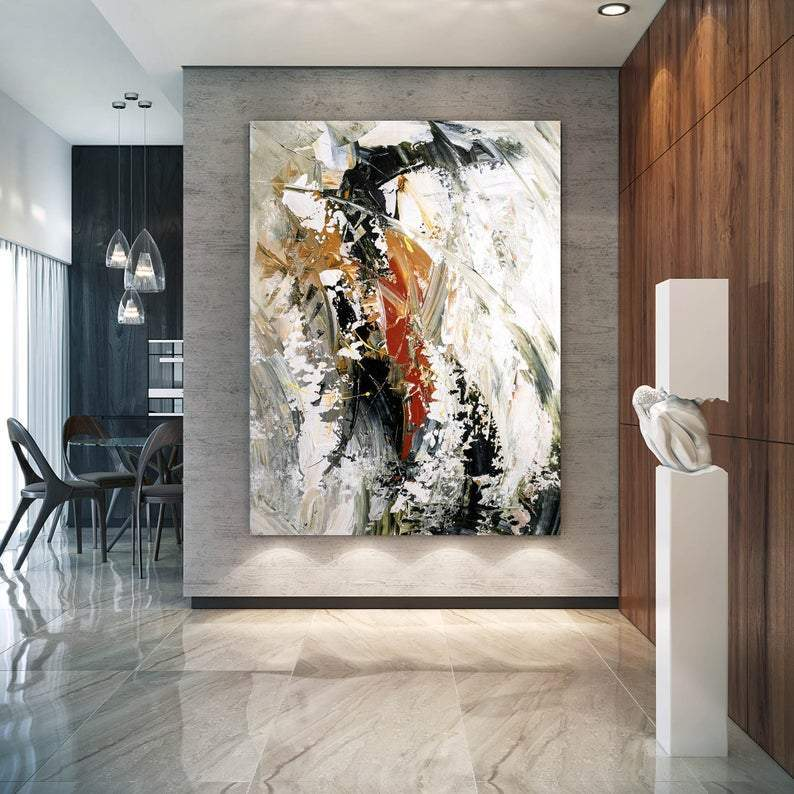 Wall Art Ideas for Bedroom, Contemporary Modern Artwork, Large Modern Canvas Painting, Hand Painted Wall Art Painting
