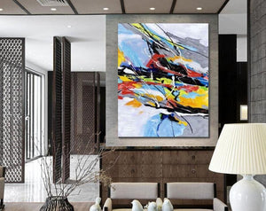 Wall Art Paintings, Hand Painted Acrylic Painting, Modern Abstract Painting, Extra Large Paintings for Living Room - HomePaintingDecor.com