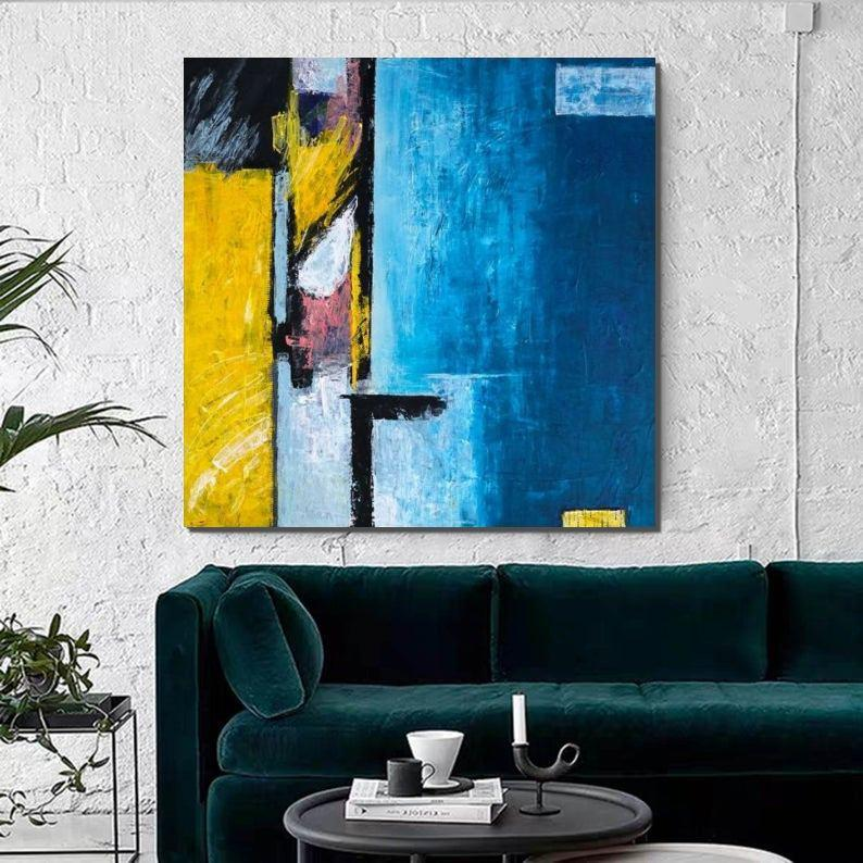 Modern Acrylic Painting, Contemporary Abstract Artwork, Huge Painting for Living Room, Hand Painted Canvas Painting - HomePaintingDecor.com