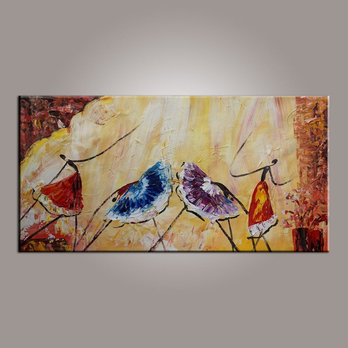 Ballet Dancer Art, Canvas Painting, Abstract Wall Art, Wall Hanging, Bedroom Wall Art, Modern Art, Painting for Sale - HomePaintingDecor.com