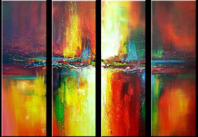 Ready to Hang Art, Modern Art, Abstract Wall Art, Wall Painting, Acrylic Art, Modern Wall Art, Abstract Art, Canvas Painting, Abstract Painting, 4 Piece Wall Art - HomePaintingDecor.com