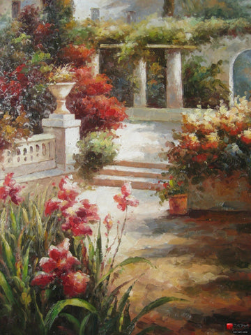 Canvas Painting, Landscape Painting, Wall Art, Large Painting, Bedroom Wall Art, Oil Painting, Canvas Art, Contemporary Art, Garden Flower - HomePaintingDecor.com