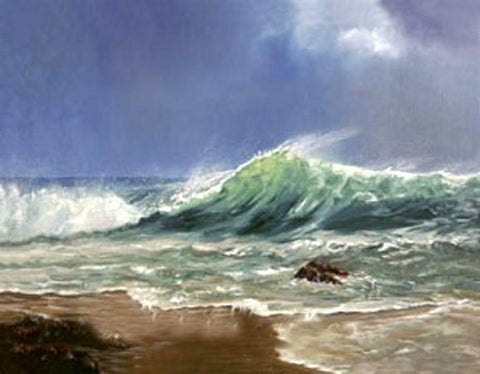 Seascape Art, Hand Painted Art, Canvas Art, Pacific Ocean, Big Wave, Canvas Painting, Large Wall Art, Large Painting, Canvas Oil Painting, Canvas Wall Art - HomePaintingDecor.com