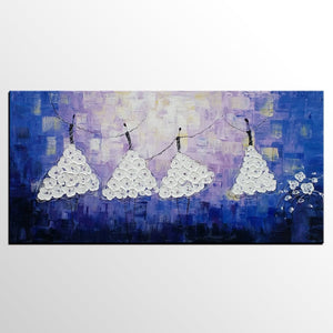 Acrylic Abstract Art, Ballet Dancer Painting, Contemporary Artwork, Art for Sale, Simple Abstract Painting - HomePaintingDecor.com