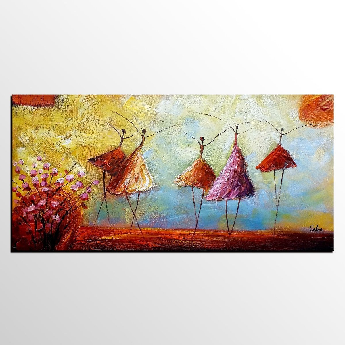 Contemporary Artwork, Ballet Dancer Painting, Abstract Artwork, Painting for Sale, Original Painting - HomePaintingDecor.com
