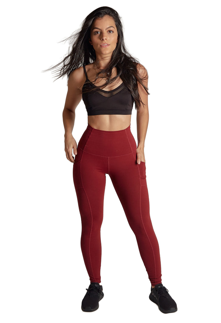 Lena Pocket Dark Red Legging