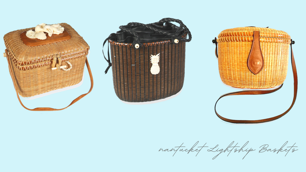 Nantucket Lightship Baskets available at Water Jewels Nantucket