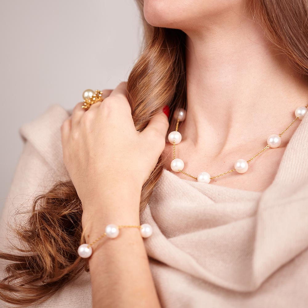 South Sea Pearl Chain Necklace