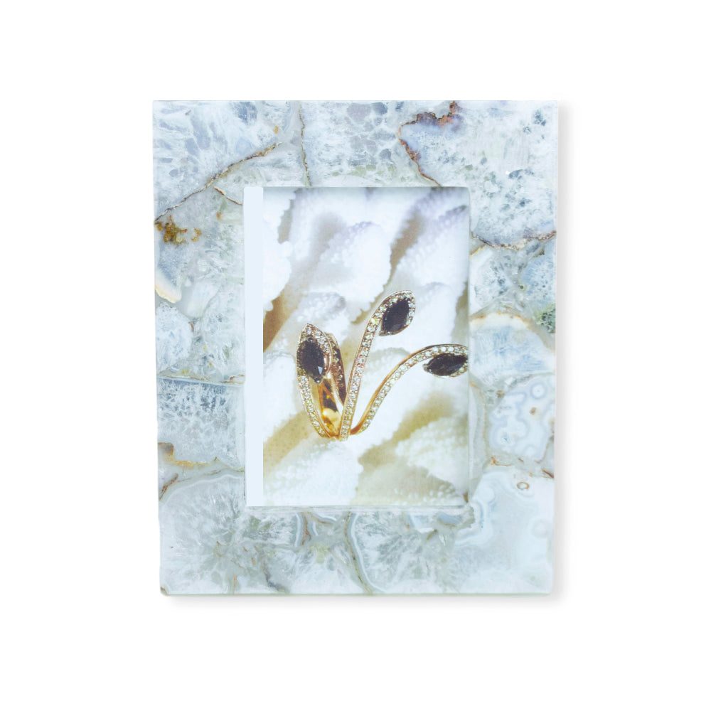 Natural Agate Frame By Barbara Harris Water Jewels