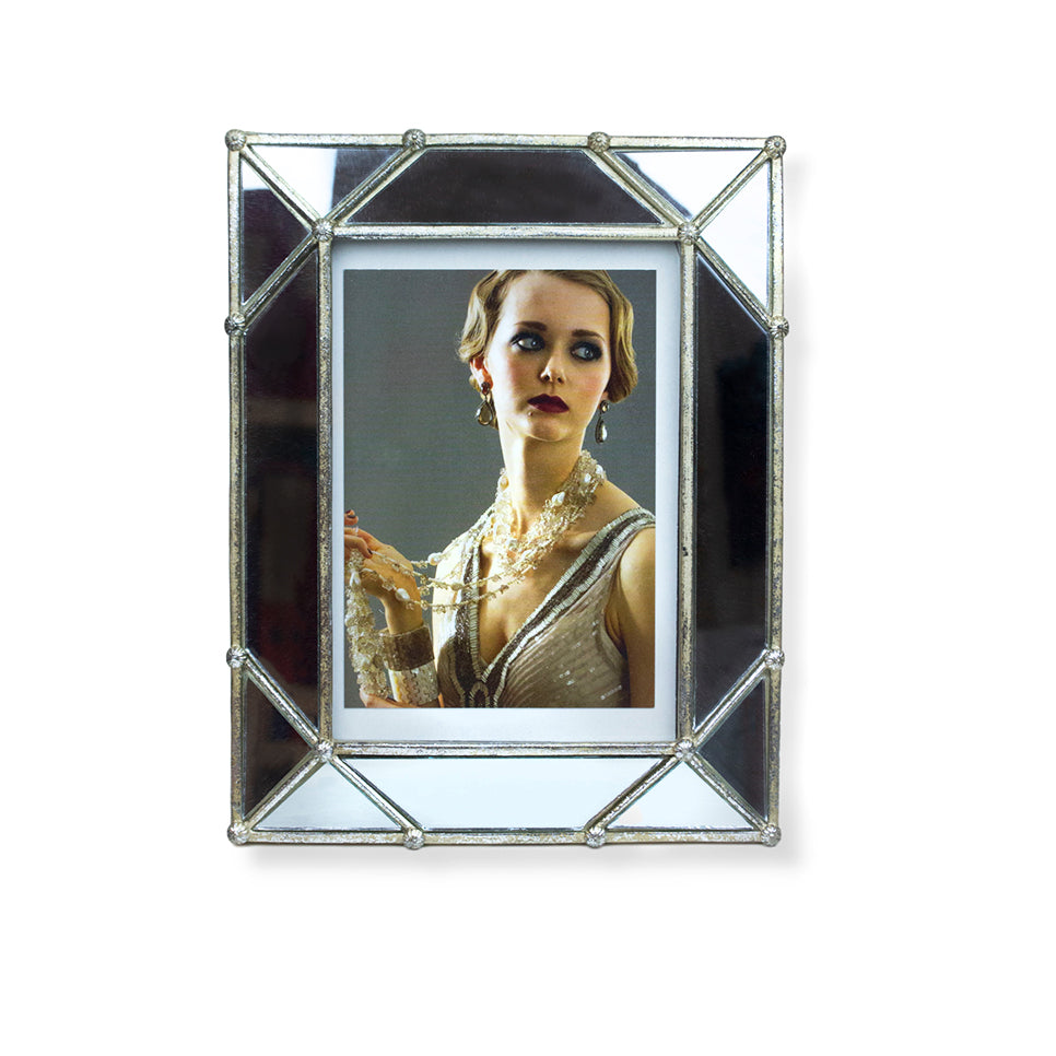 Angled Mirror Picture Frame by Barbara Harris Water Jewels