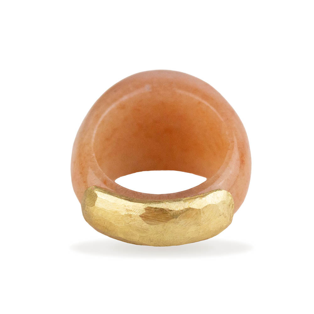 Aventurine Orange Dome Ring By Barbara Harris Water Jewels