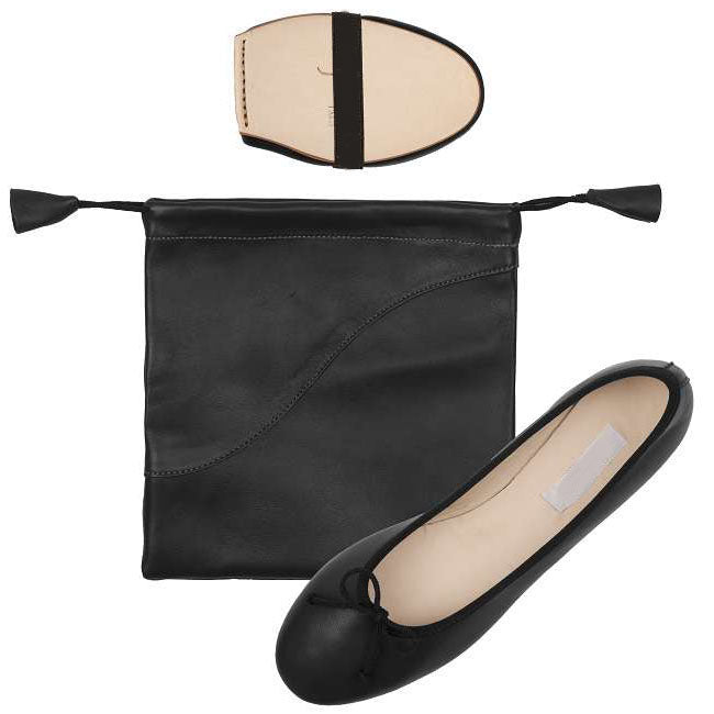Ballet Pumps Black with Carry Bag