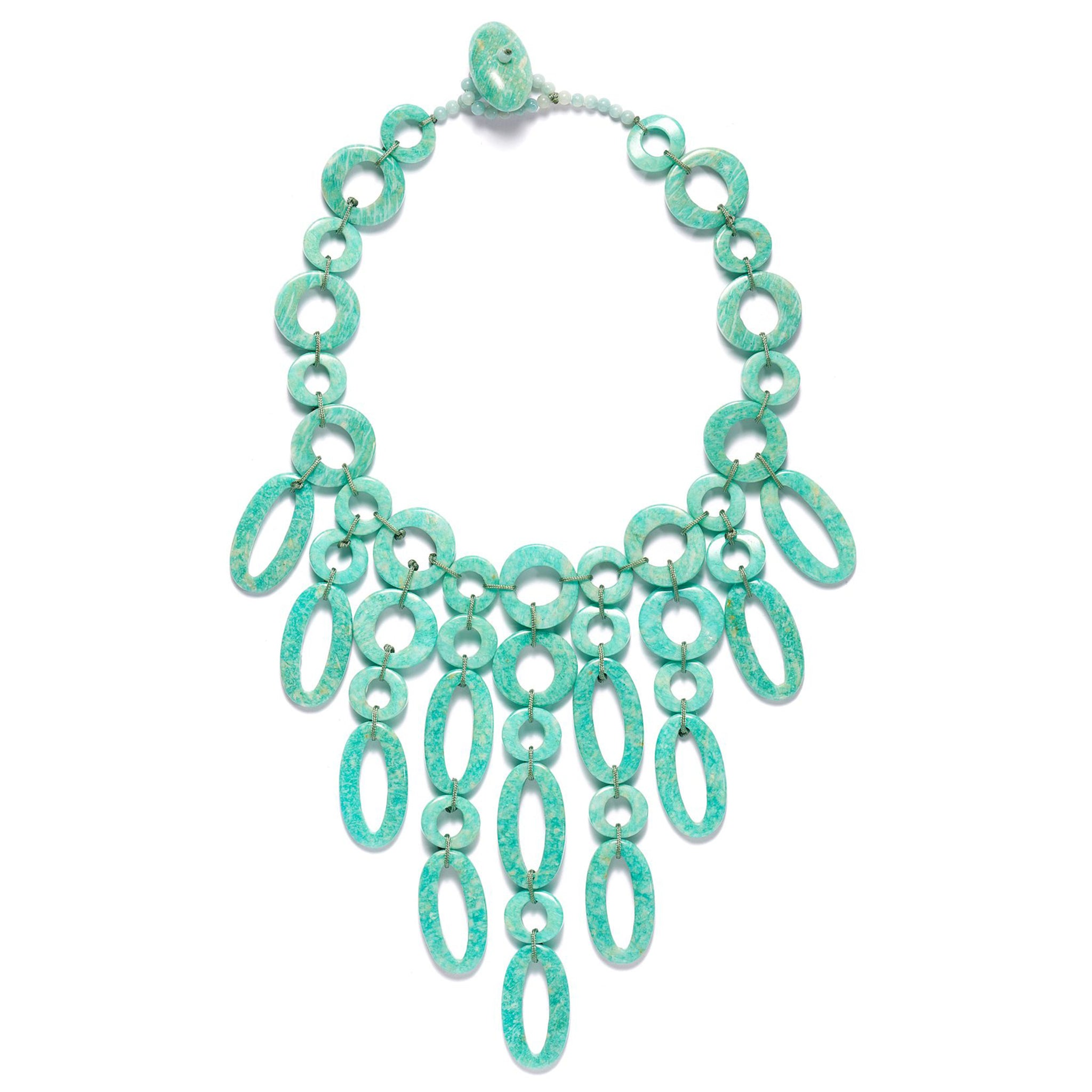 Bubble Necklace in Amazonite