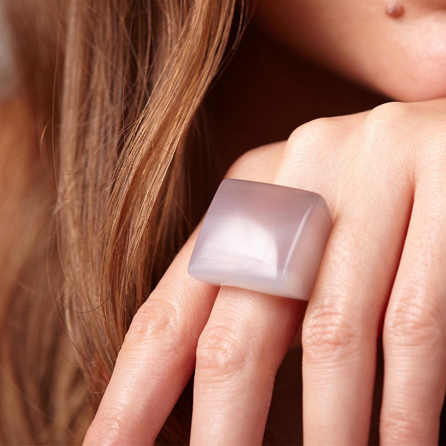 Chalcedony Pillow Ring