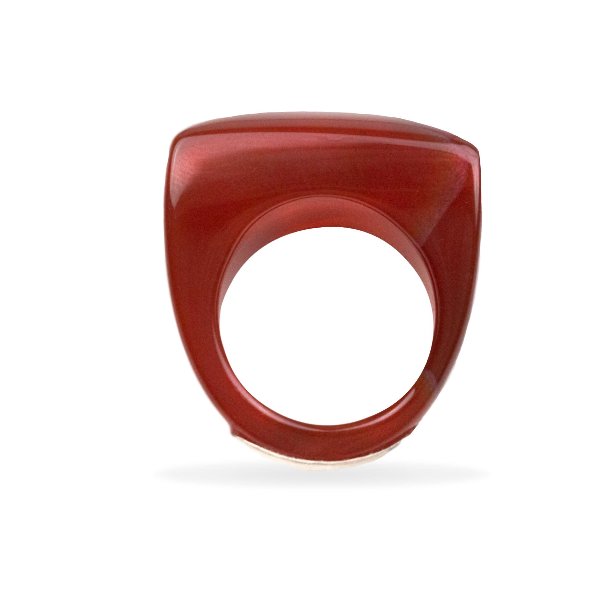 Carnelian Pillow Ring