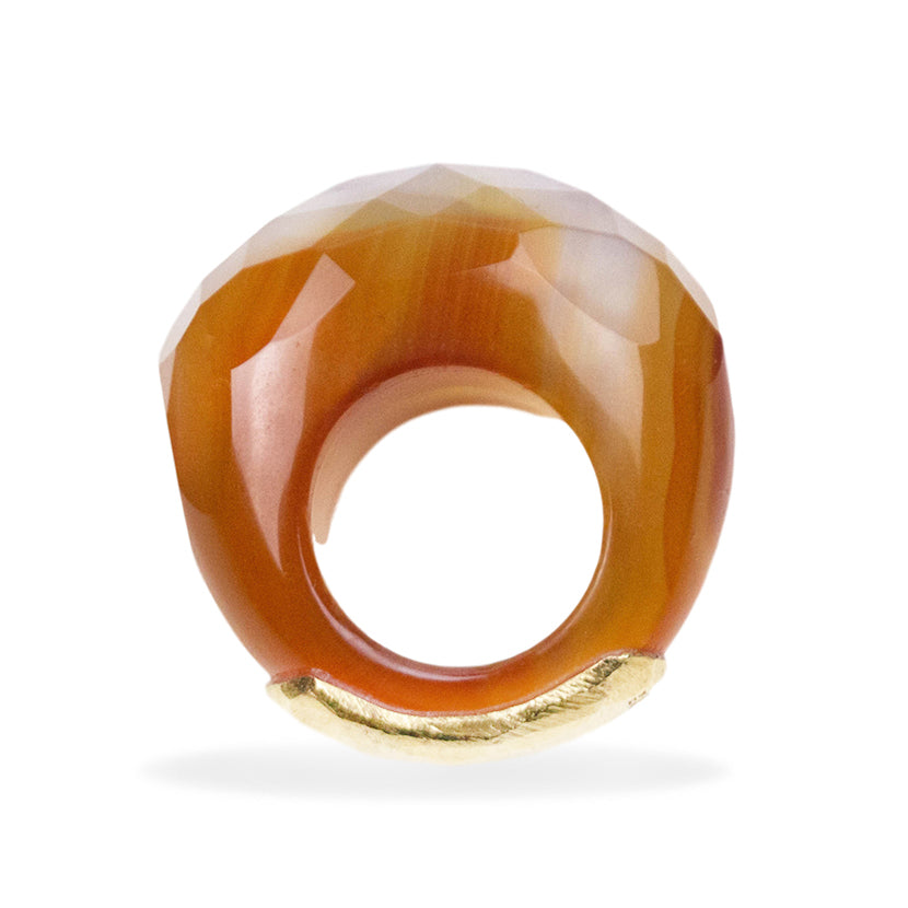 Carnelian Ice Ring By Barbara Harris Water Jewels