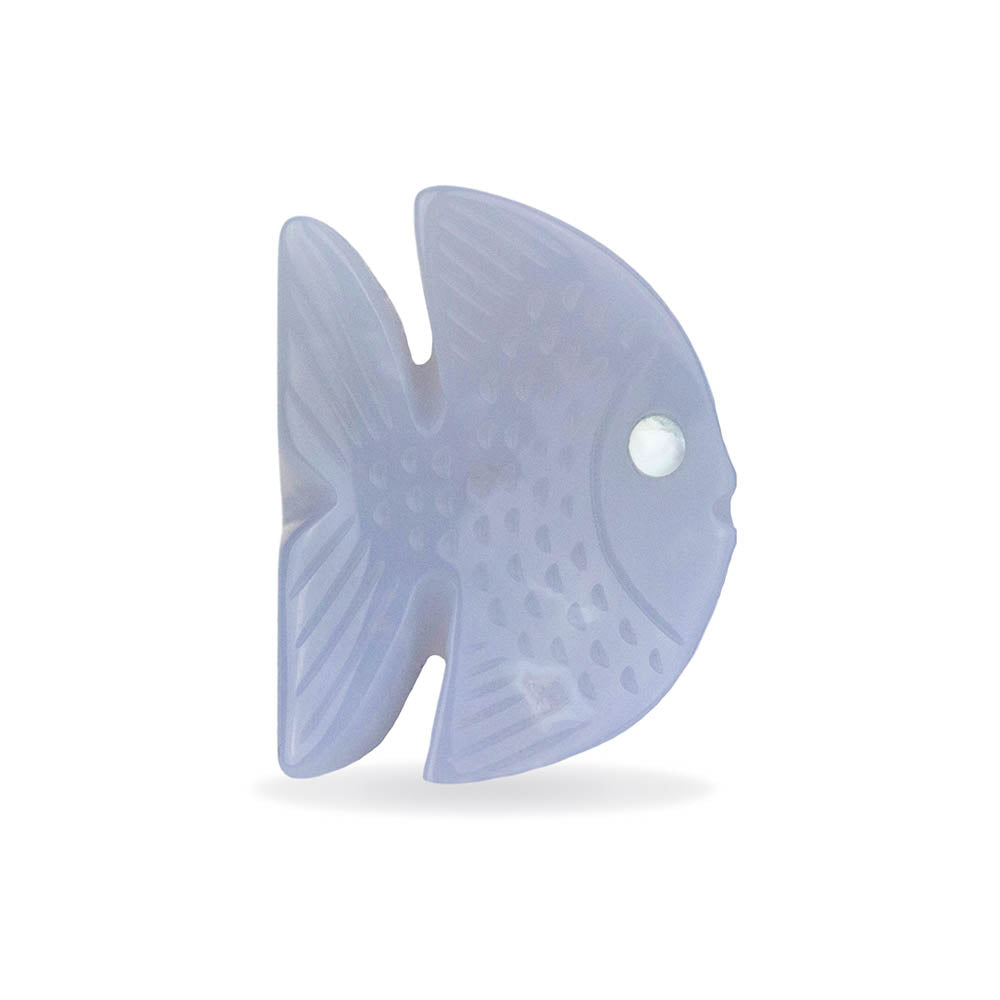 Blue Chalcedony Fish Ring By Barbara Harris Water Jewels